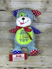 Cubbies™ Harlequin Dog Stuffie with Custom Embroidery