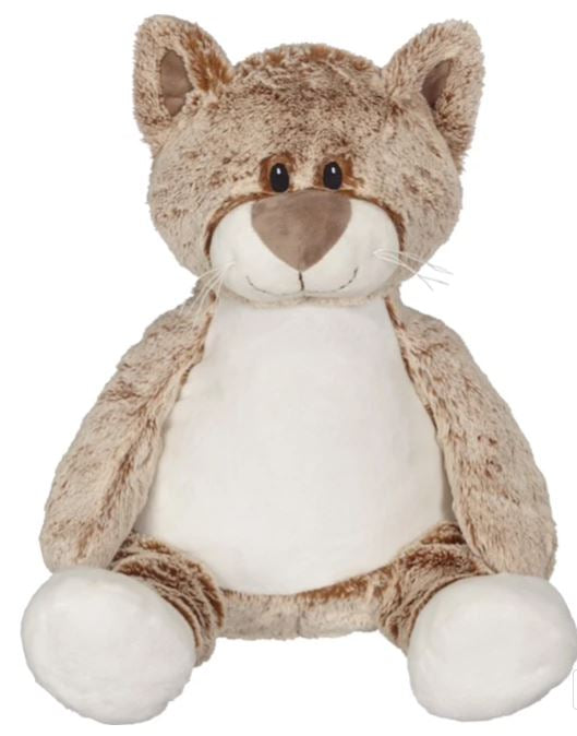 Embroider Buddy Cat Stuffie with Custom Embroidery