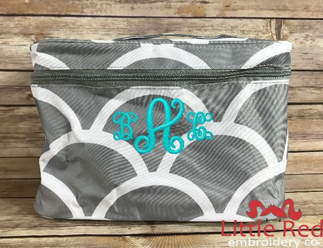 Grey Scallops Cosmetic Bag