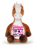 Cubbies™ Horse Stuffie with Custom Embroidery