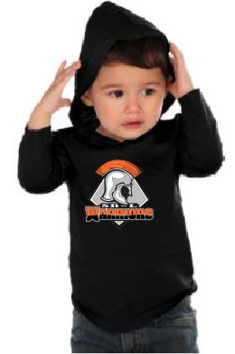 SBL Warriors logo Black Jersey Hoodie (Infant, Toddler, and Youth Sizes)