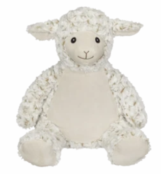 Embroider Buddy Lamb Stuffie with Custom Embroidery