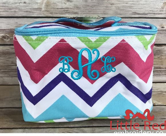 Multi-Color Chevron Cosmetic Bag