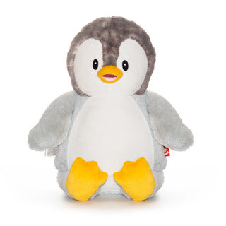 Cubbies™ Signature Collection Grey Penguin Stuffie with Custom Embroidery