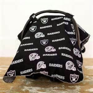 Carseat Canopy™ NFL Oakland Raiders Whole Caboodle Infant Car Seat Kit - personalized! Canopy, blanket, pillow, slipcover, & sunshade.