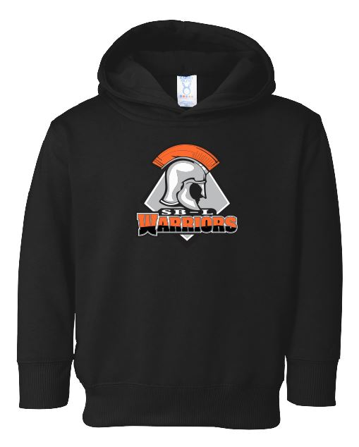 SBL Warriors logo Black Fleece Hoodie (Toddler and Youth Sizes)