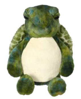 Embroider Buddy Turtle Stuffie with Custom Embroidery