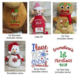 Cubbies™ Green & Red Elf Stuffie with Custom Embroidery