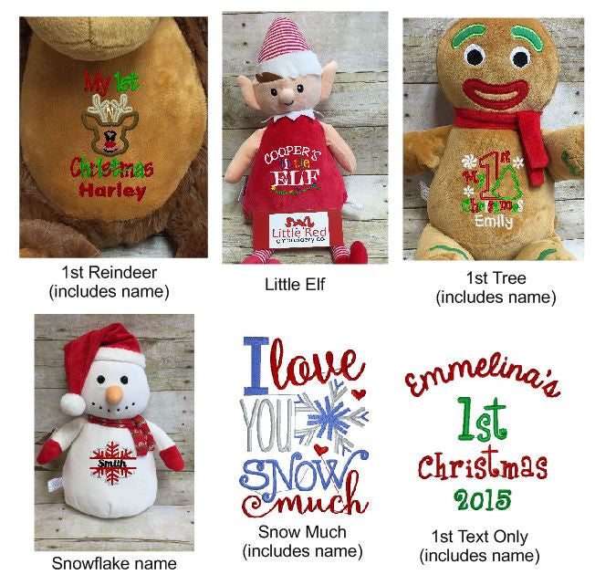 Cubbies™ Gingerbread Man Stuffie with Custom Embroidery