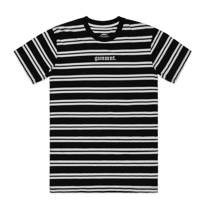 gvnmnt. Striped T Shirt (B/W)