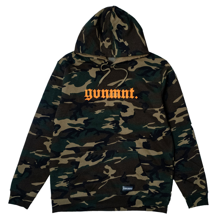 Camo / Orange Old English Hoodie