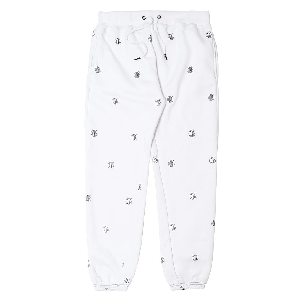 Initial Jogger Pants - White