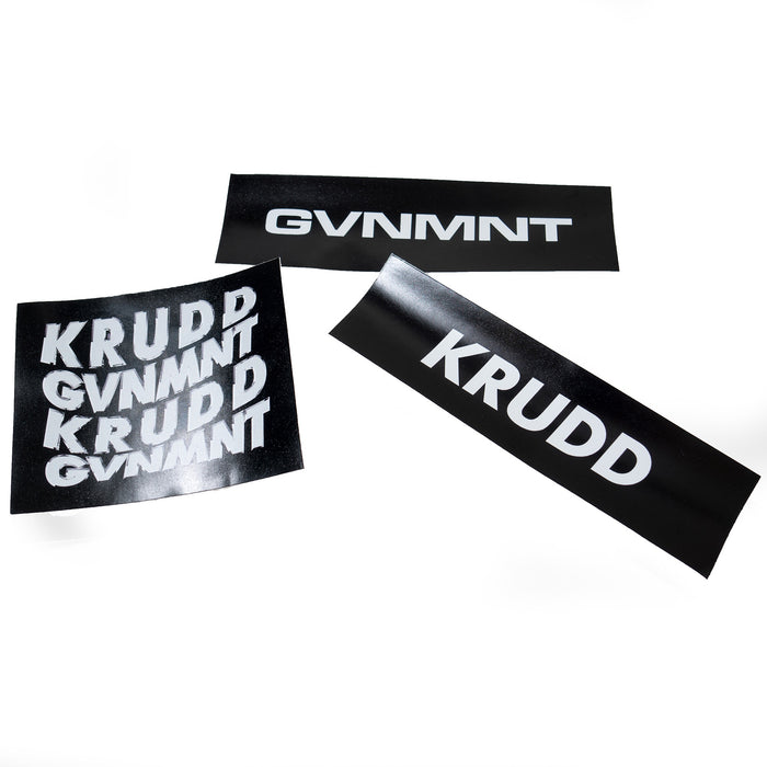 GVNMNT X KRUDD STICKER PACK