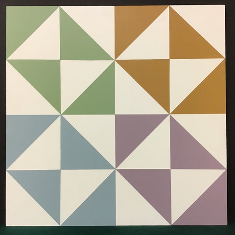 "Large Barn Quilt ""Broken Dishes"" Pattern 2' x 2'"