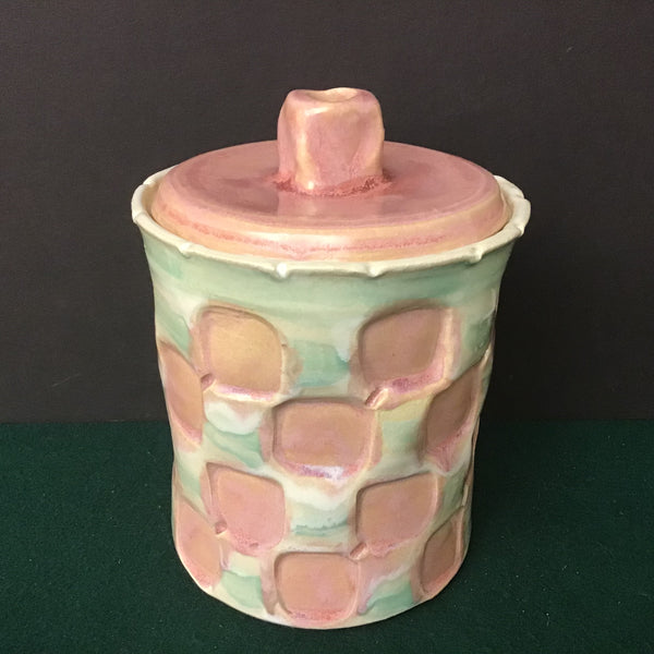 Pink and Turquoise Cannister, Joanne Arvisais, Plattsburgh, NY