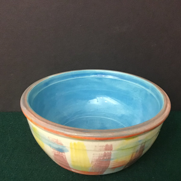 "Small Stoneware Bowl ""North Meets South"", Jackie Sabourin, Lake Shore Road, Peru, NY"