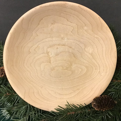 Flat Sugar Maple Bowl, Dennis Del Rossi, Canton, NY
