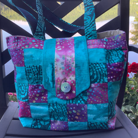 Designer Tote Contemporary Pieced Quilt Design, Tina Charbonneau, Lake Placid, NY