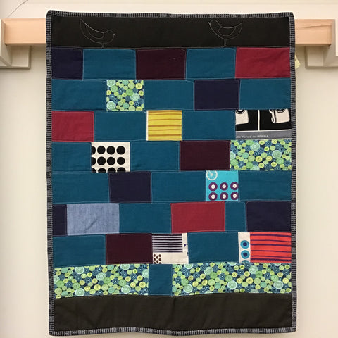 """The Wall""  wall hanging or crib quilt"