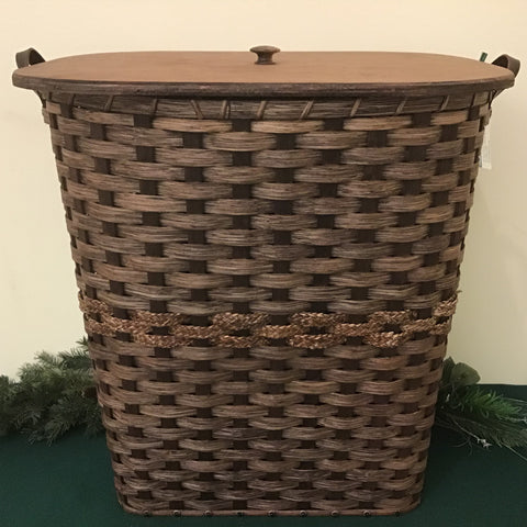 Hamper with Wood Lid,  Mary M. Keim
