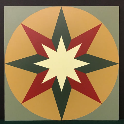 "Large Barn Quilt ""Harvest Star"" Pattern 2' x 2'"