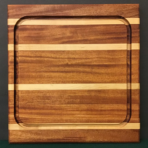 Mahogany and Maple Cutting Board, Mike LaBell, Watertown, NY