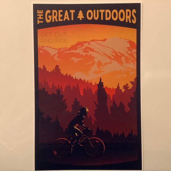 """Great Outdoors"" Cycling Poster, ""Get Out and Ride"", Catherine LaPointe, Potsdam, NY"