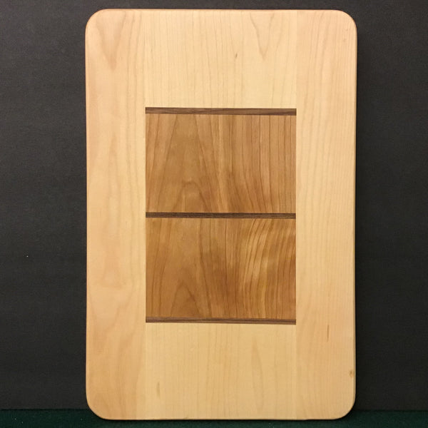 Cutting Board, Inlaid Wood from the Adirondacks, Sid Ward, Jay, NY
