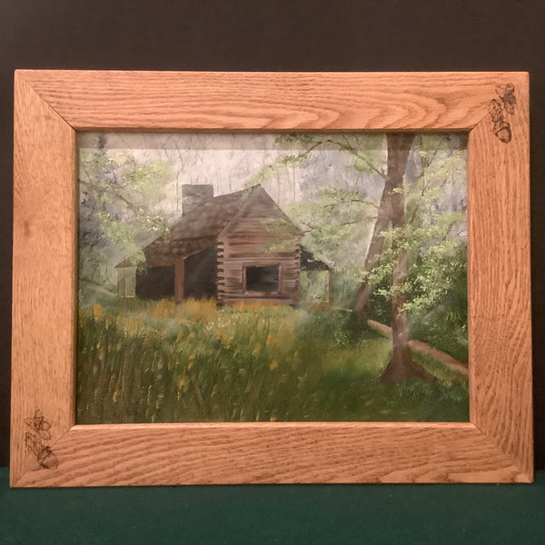 """Cabin in the Woods"" Oil on Canvas, Lisa Nylin, Theresa, NY"