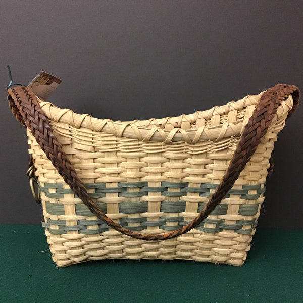 Carrier Basket with Sage Details, Sue Ulrich, Boonville