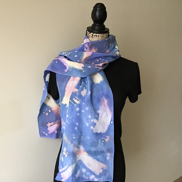 Hand Painted Silk Scarf, Lynne Taylor, Merrill, NY