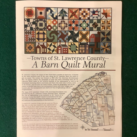 """Towns of St Lawrence County"" Barn Quilt Mural Interpretive Brochure"