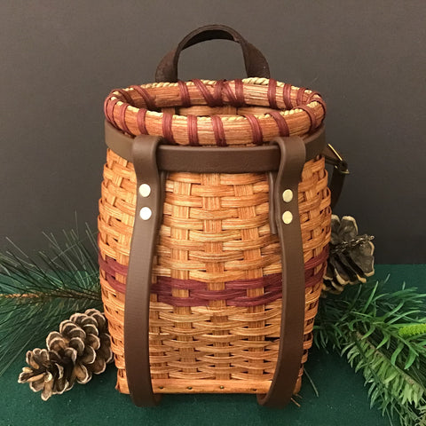 Small Adirondack Pack Basket with Straps, Jonas S. Miller, Heuvelton, NY