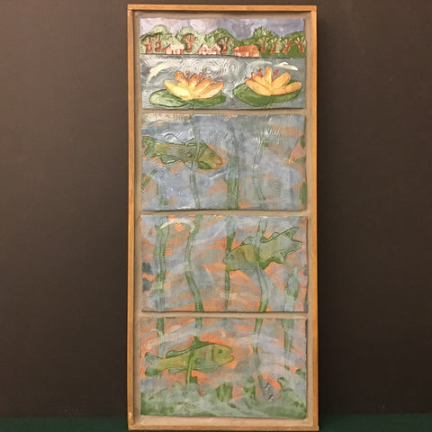"""Above and Below"" Scene Tile with Wood Frame,  Nan Lazovik, DeKalb, NY"