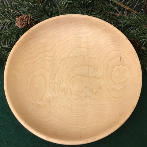 Shallow Sugar Maple Bowl, Dennis Del Rossi, Canton, NY