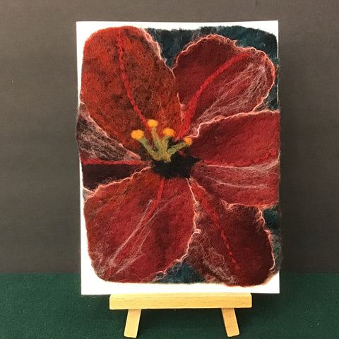 "Hand Felted Card ""Daylily Up Close"", Kathy Montan, Canton, NY"