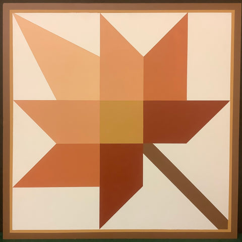 "Large Barn Quilt ""Maple Leaf"" Pattern 2' x 2'"