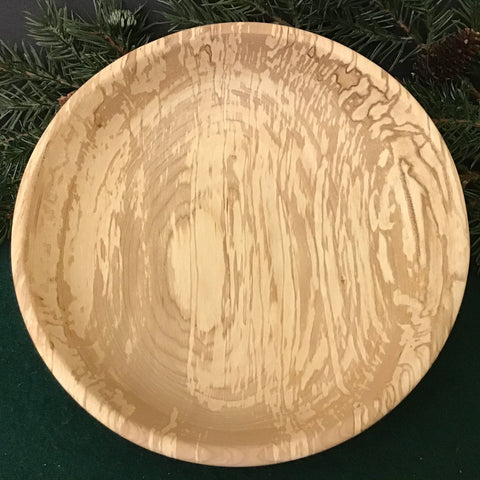 Shallow Spalted Maple Bowl, Dennis Del Rossi, Canton, NY