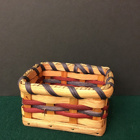 Business Card Basket, Mose and Anna Miller, Lisbon, NY