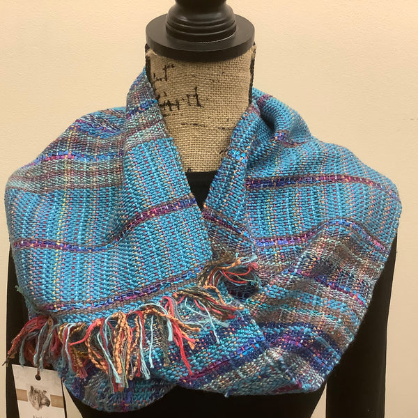 "Assorted Handwoven Silk, Cotton,Linen ""Annabel"" Infinity Scarves, Kim Richey, Chateaugay, NY"