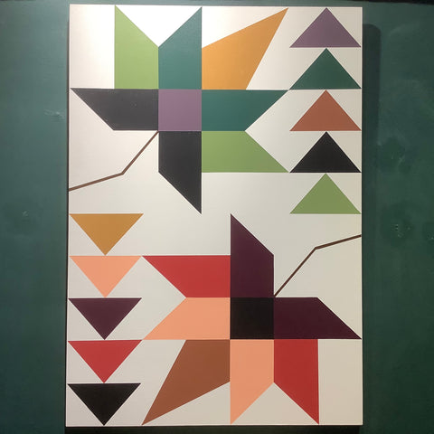 "Large Barn Quilt ""Seasonal Maples"", Carol Ann Rose, Trout Lake, NY"