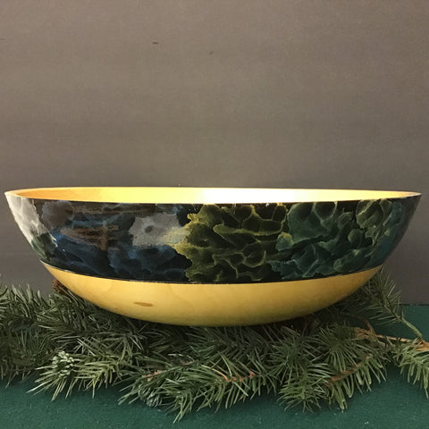 "Large Poplar Bowl ""Cosmic Nebulae"" Design,  David Buchholz, Augur Lake, Keeseville, NY"