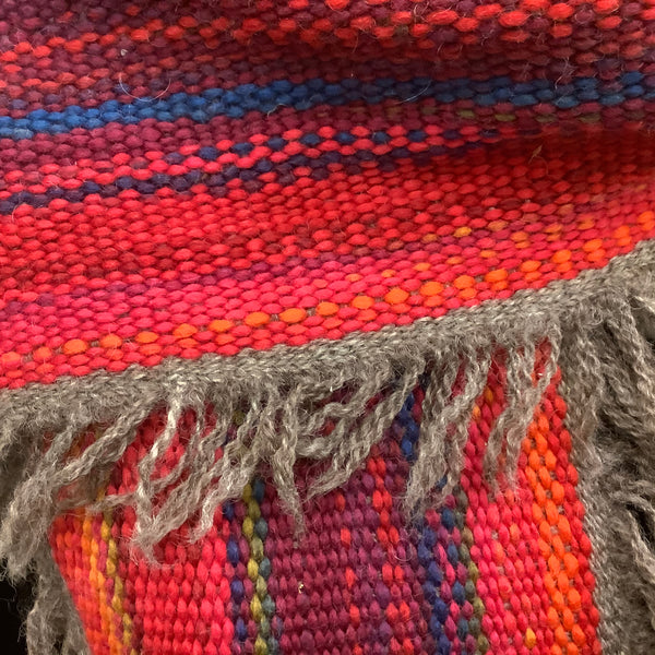 "Handwoven Fringed Scarf ""Sunset"", Kim Richey, Chateaugay, NY"