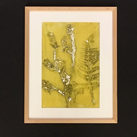 """Spring to Summer"" Framed Botanical Leaves Print, Cris Winters, Saranac Lake, NY"