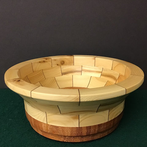 Segmented Bowl, White Cedar, Frank DiLeonardo, Watertown, NY