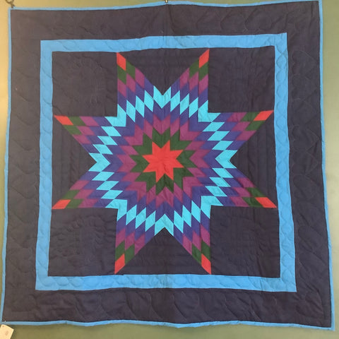 "Wall Hanging Quilt, ""Lone Star"", Susie Keim, Rensselaer Falls, NY"