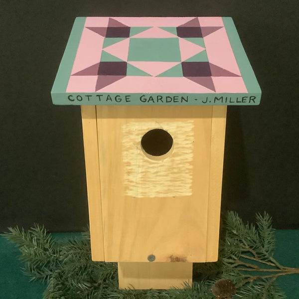 "Birdhouse with ""Cottage Garden"" Quilt Pattern, John Miller III, DeKalb Junction, NY"