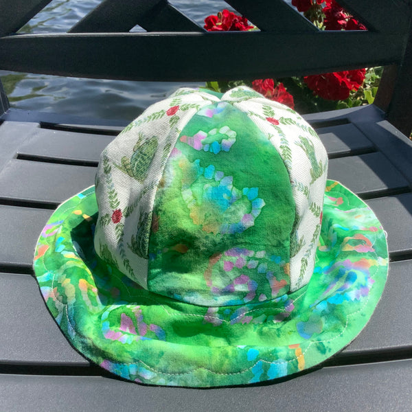 Children's Sun Hat Frog and Lily Pads Pattern, Tina Charbonneau, Lake Placid, NY