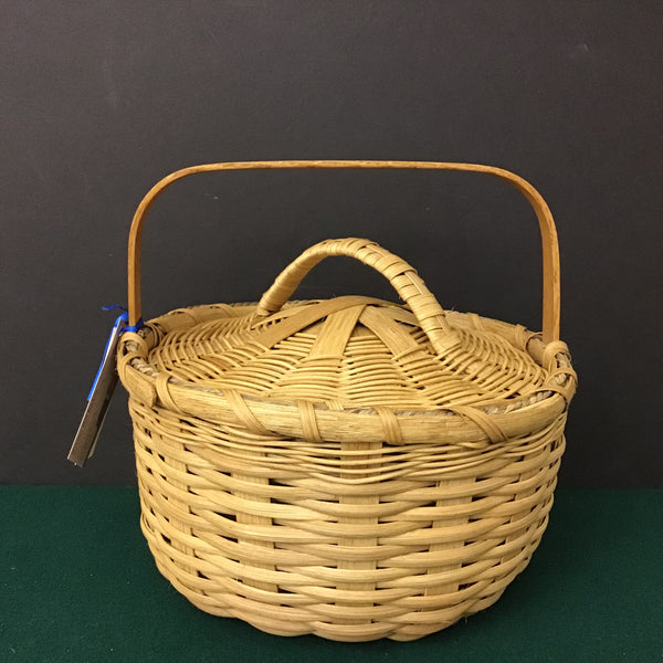 Small Basket with Cover, Sue Ulrich, Boonville