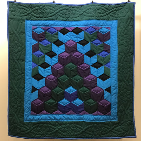 "Amish Quilt ""Blocks "" wall hanging or lap quilt"